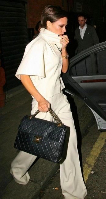 a9e334b4fbabb6 Ms beckham with a chanel bag fashion vintage chanel bag jpg 346x650 Coolspotters  chanel jumbo flap
