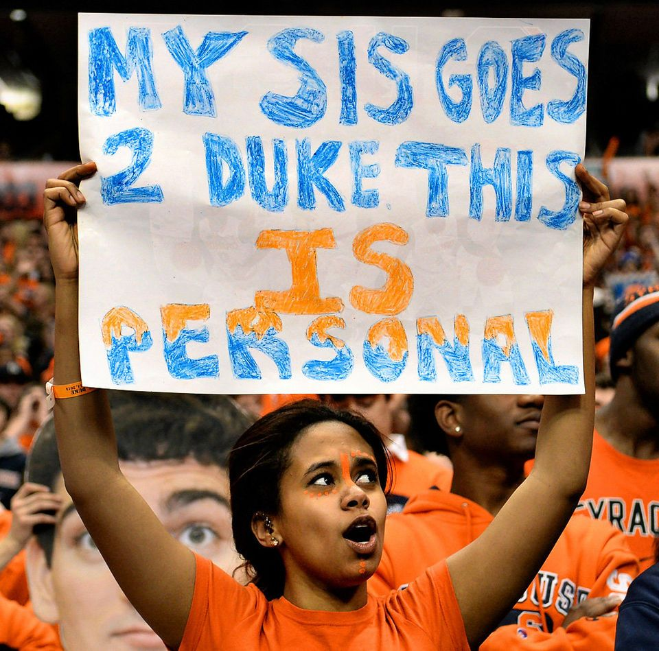 Fans At The Syracuse Duke Basketball Game Syracuse