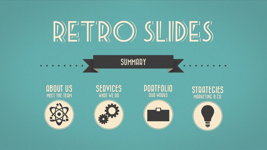 retro slides - keynote & powerpoint template (full hd) on behance, Powerpoint templates