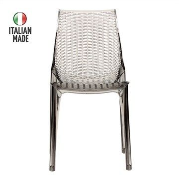 Italian Made Tricot Side Chair in Smoked