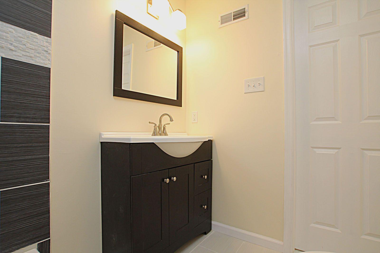 designer vanity and custom mirror in the bathroom built on custom bathroom vanity mirrors id=24793