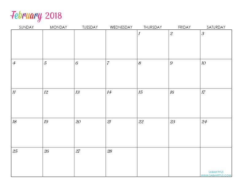 Custom Editable Free Printable 2018 Calendar | Menu planning, Free ...