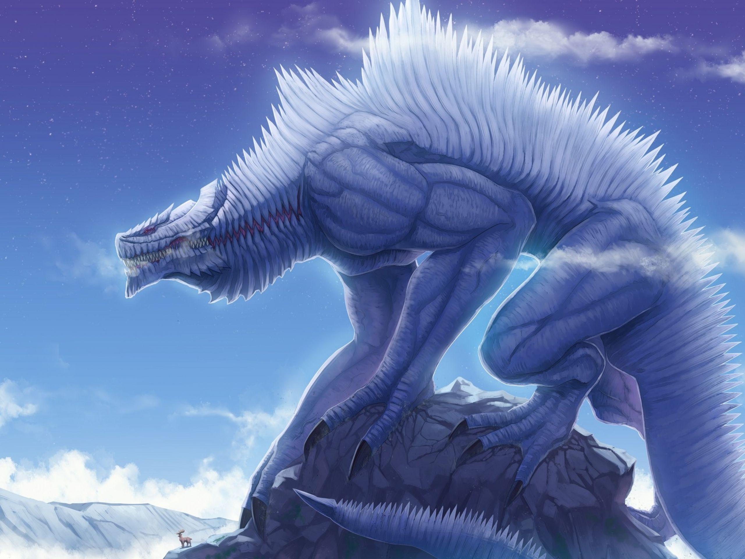 Fantasy Snow Backgrounds Dreamy Fantasy Snow Monster