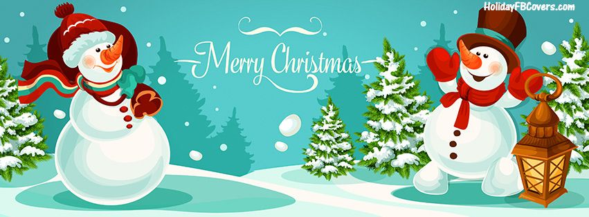 Snowman Merry Christmas Facebook Cover HolidayFBCovers.com ...