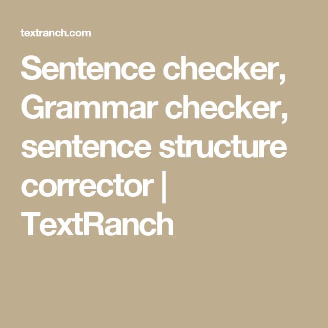 english sentence structure checker