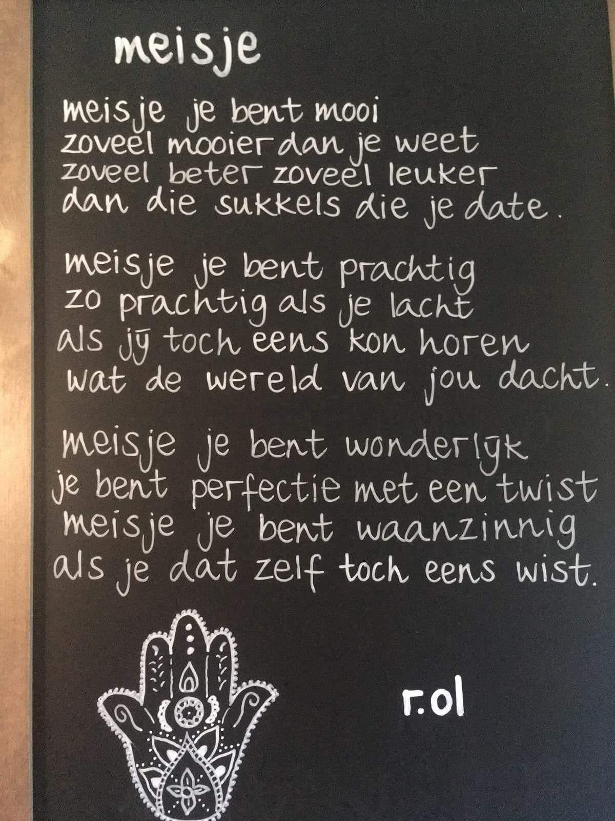 Pin Van Jeanette Strating Op Gedichten Je Bent Mooi