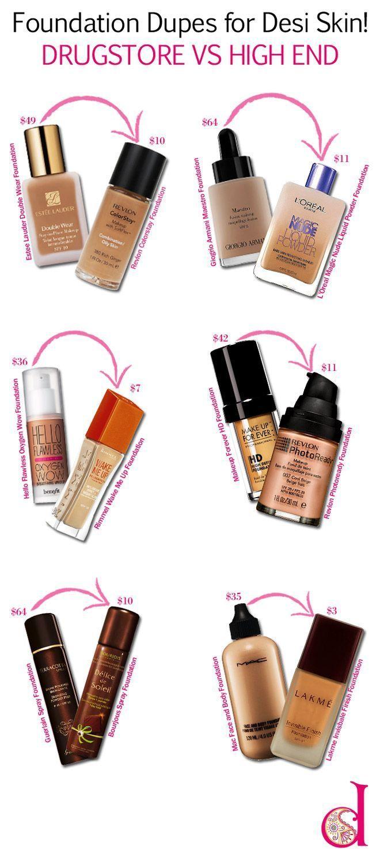 Foundation Dupes for DESI Skin! Drugstore vs High End