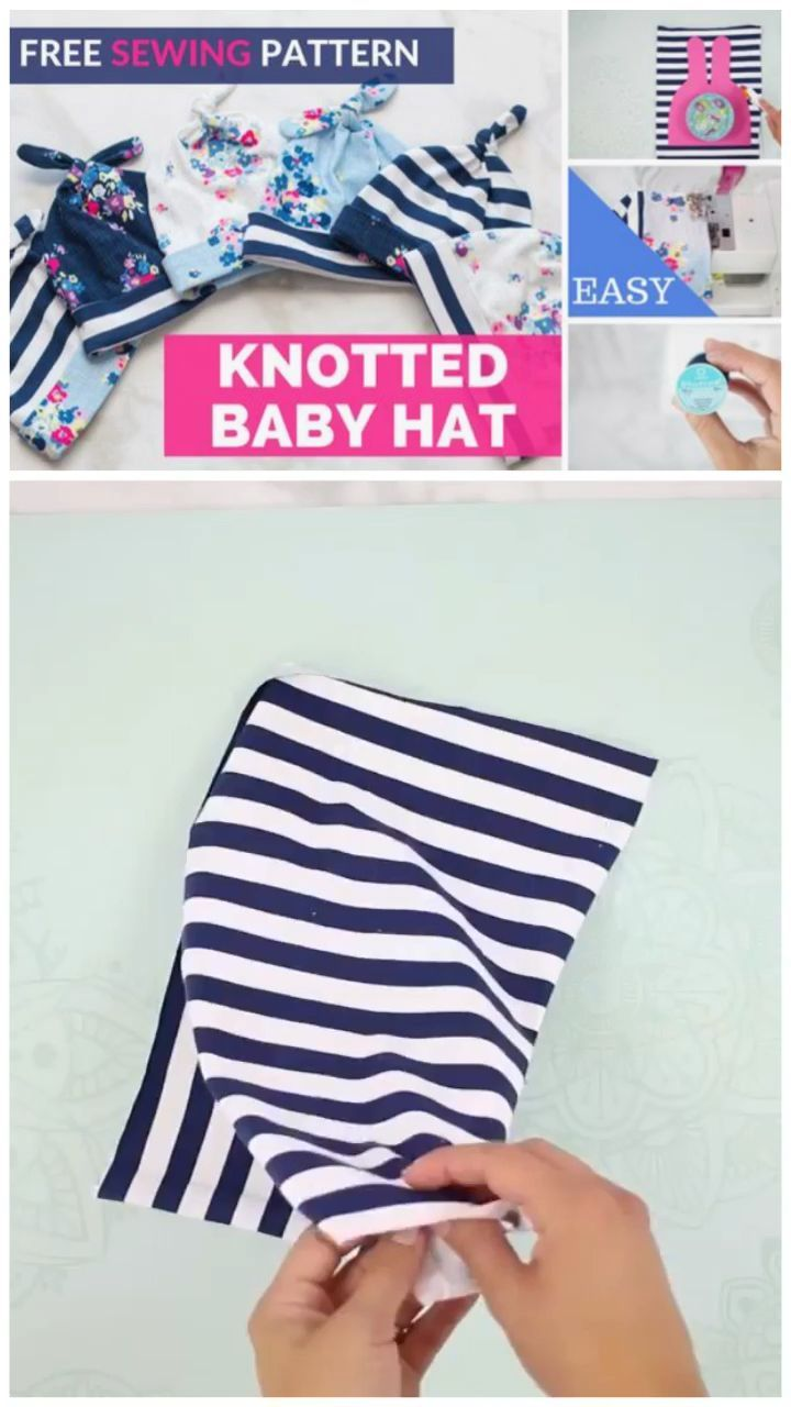 Easy to Sew Top Knot Baby Hat Sewing Tutorial and Free Patternbaby