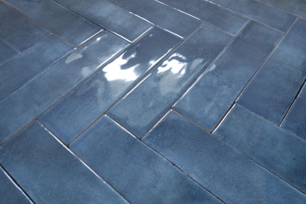 Baldocer Harlem Blue 30x7 5 Ciegielka Niebieska Kaflando Pl Blue Tiles Blue Hardwood Floors