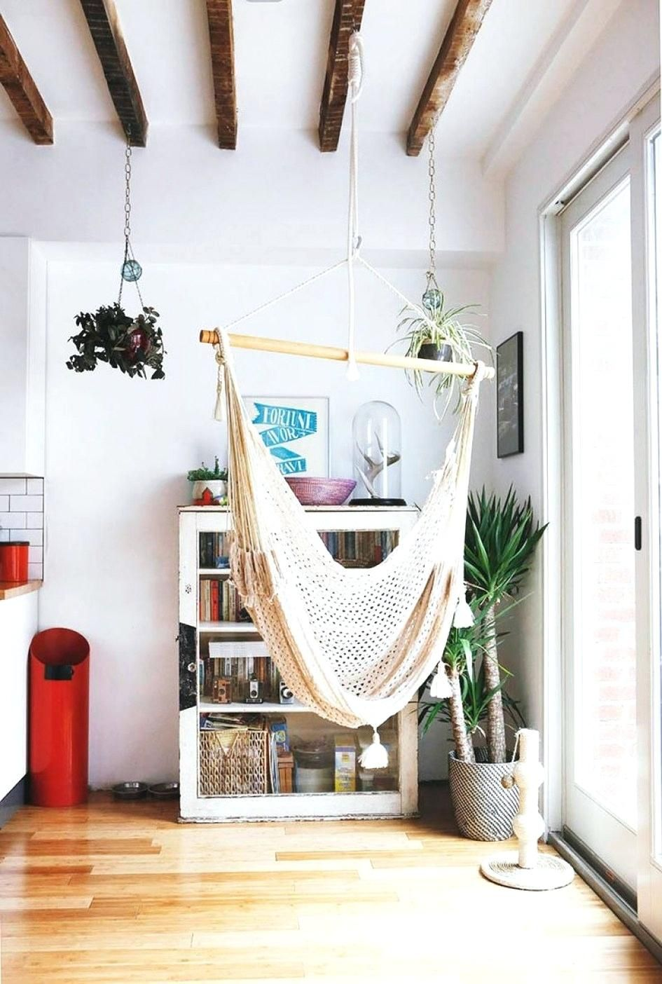 14 Awesome Indoor Hammock Ideas For A Lazy Sunday Morning With Images Indoor Hammock Chair Indoor Hammock Hammock In Bedroom
