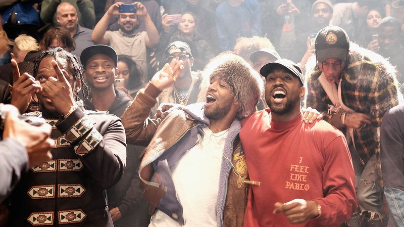 Pusha T Kid Cudi Kanye West Travis Scott At Kanye West S Listening Party For The Life Of Pablo 2 14 16 Kid Cudi Poster Kid Cudi Kanye West