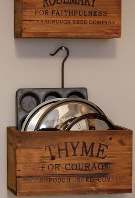 love these herb boxes...from  Farmhouse Wares!