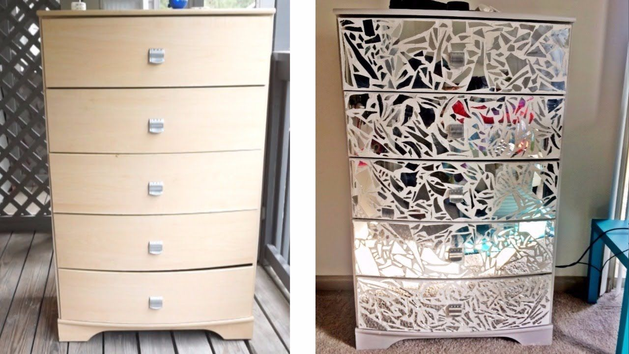 Diy mirrored dresser night stands youtube with
