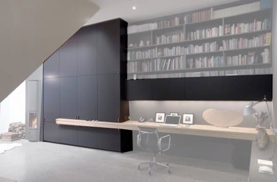 Q - I think I've found the ultimate desk/office. I don't remember where I got the picture, but I love the ideas. Any thoughts on how I could pull off this minimalistic and clean look without giving up my life savings?