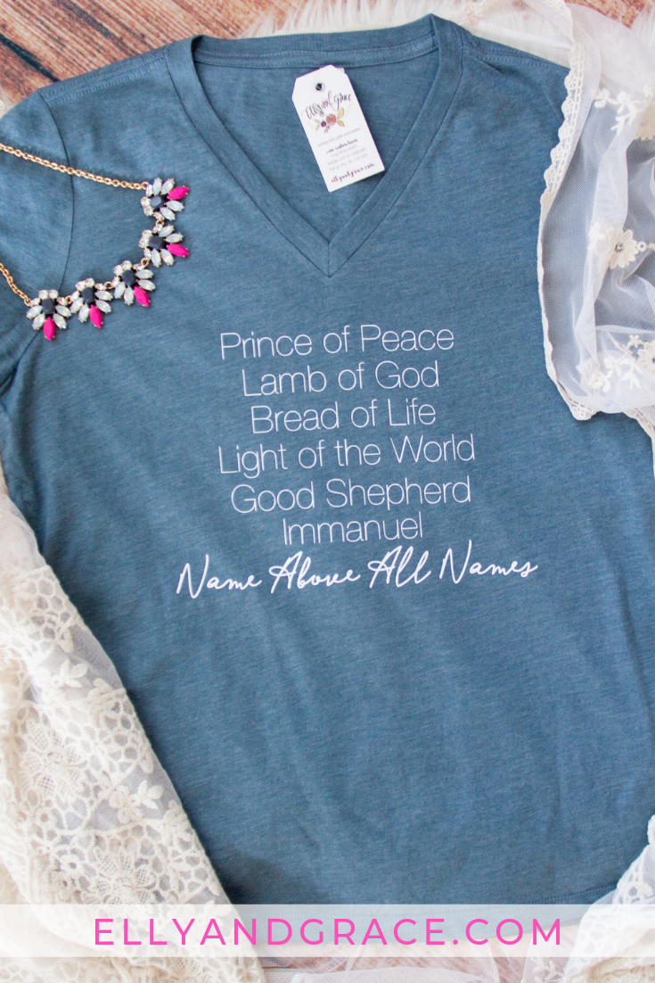 Name Above All Names Relaxed Ladies Vneck #churchoutfitfall