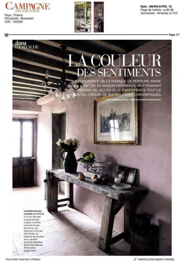Reportage Campagne Décoration Antoinette sur la mur Magazine