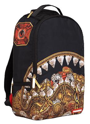 f1df4cb22143 Sprayground Diamond Shark Gold Cash Money Dope Book Bag Backpack 910B1076NSZ