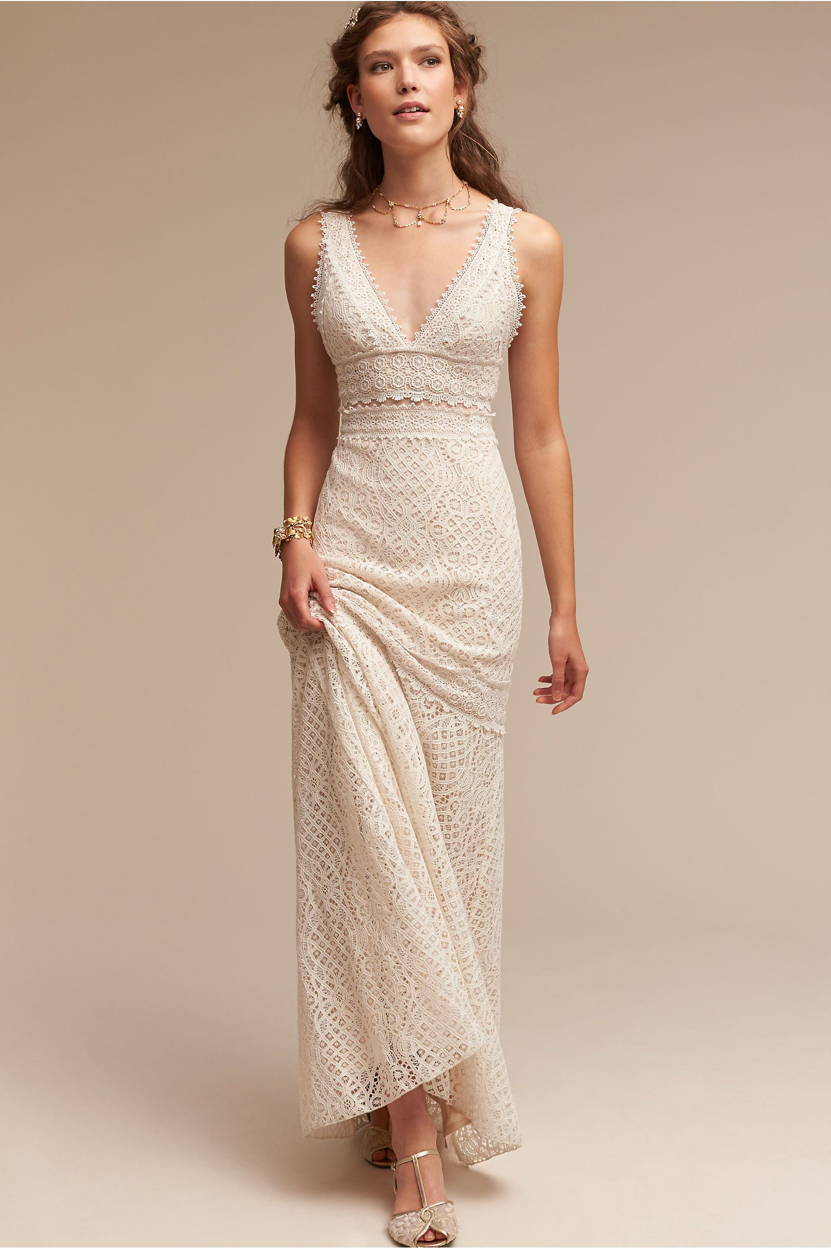 7c2bee4db518 BHLDN's Tadashi Shoji Kiely Gown in Ivory/natural | Products in 2019 ...
