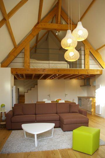 Réhabilitation grange en habitation, maison avec mezzanine