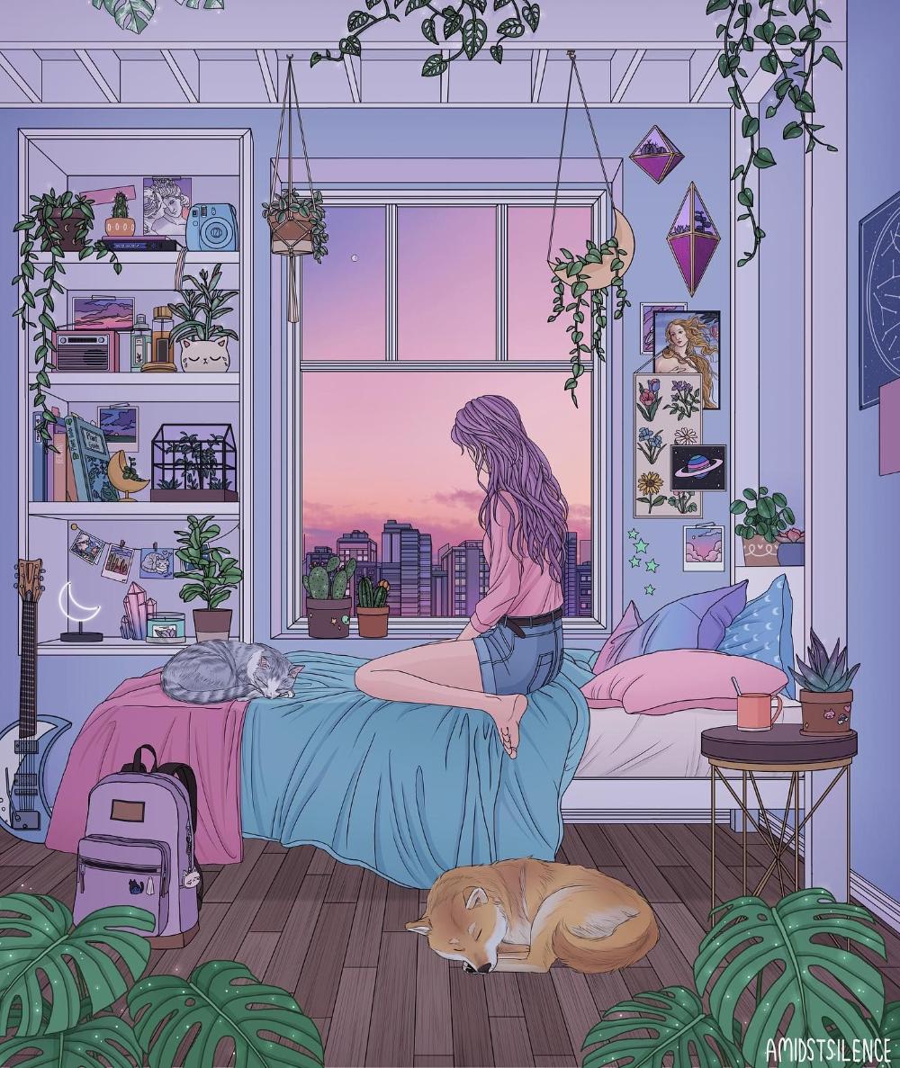 Beautiful Bizarre Magazine On Twitter Bedroom Drawing Girly Art Art