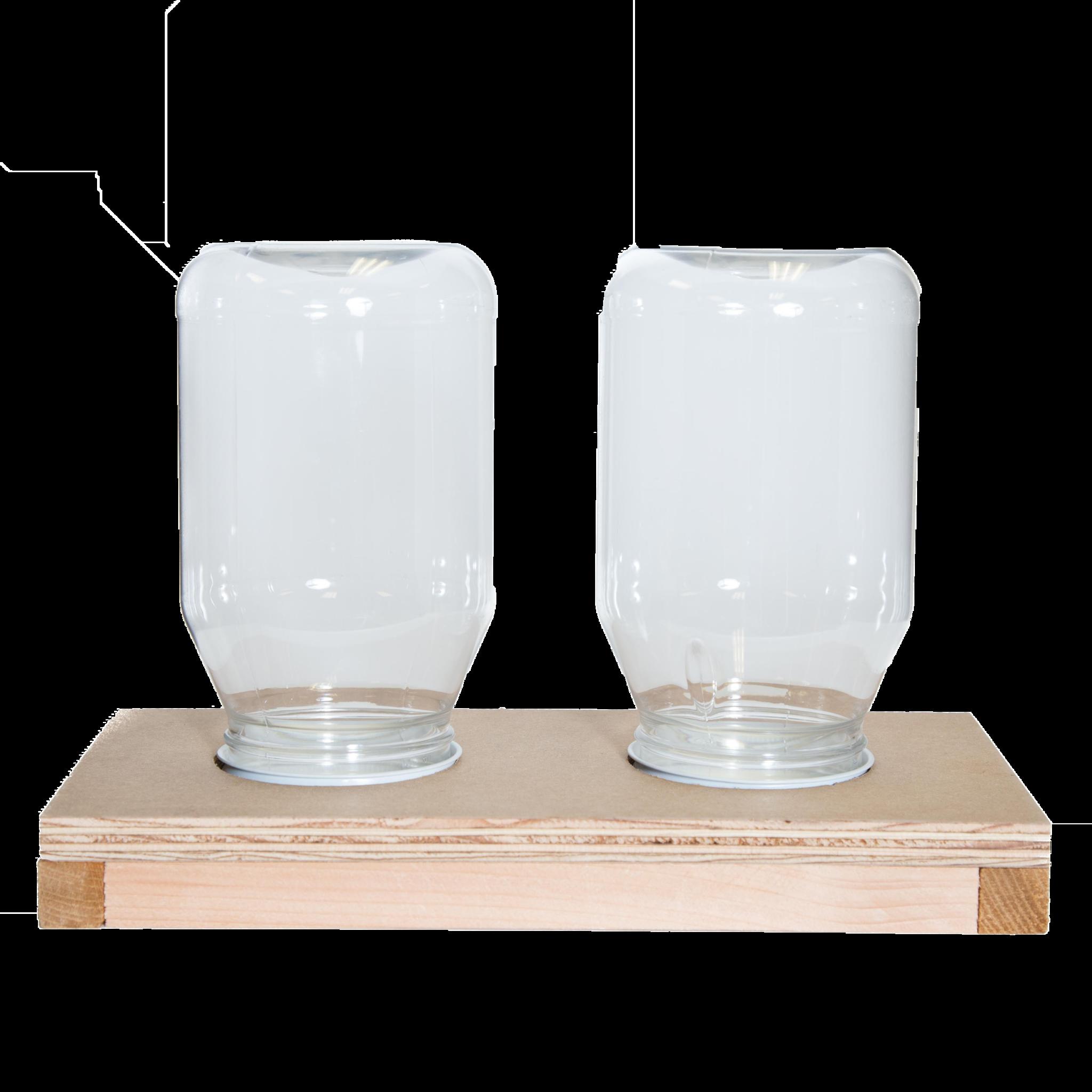 Double Jar Feeder Base | Bee feeder, Top bar hive, Bee ...