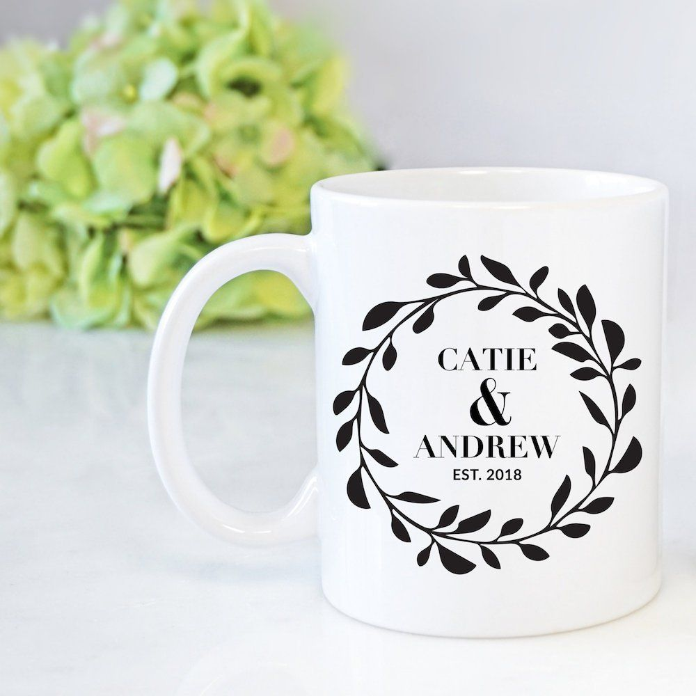Personalized His And Her Mug Personalized Coffee Mug For Bride And Groom Wedding