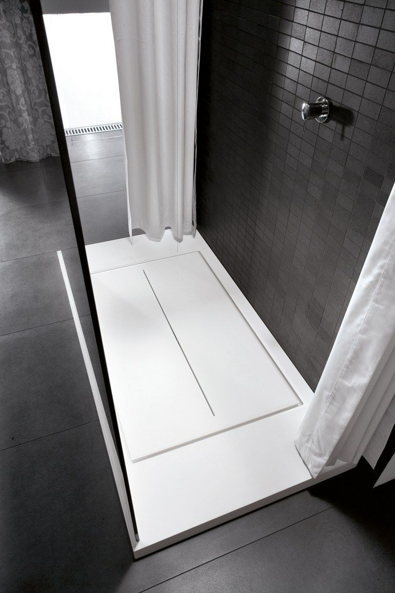 Rectangular Aquatek #shower tray WALK-IN by IdeaGroup #bathroom @ideagroup