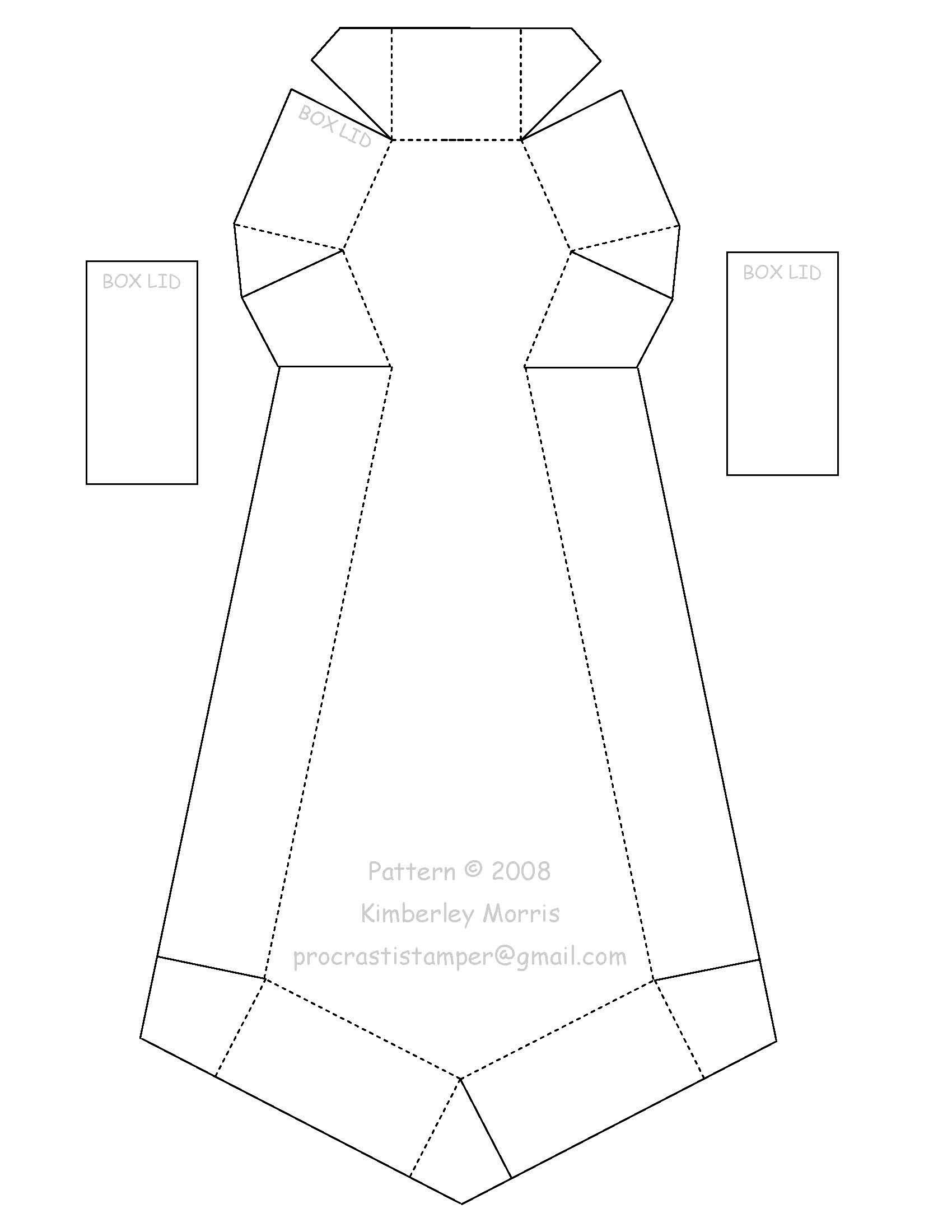 moldes de cajas corbata - Buscar con Google | ideas para regalar ...