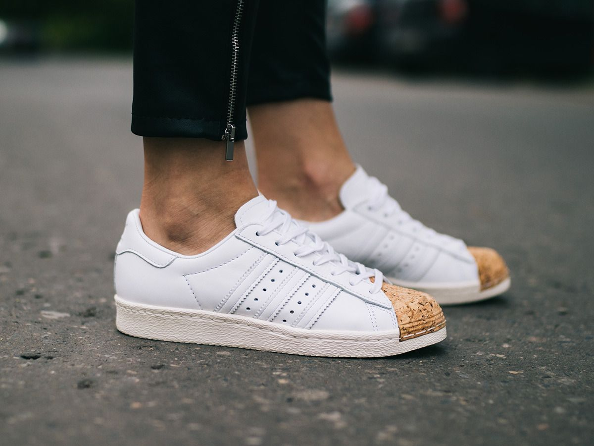 the latest dea57 4e860 Women s Shoes sneakers adidas Originals Superstar 80s Cork BA7605   JCrewWomensShoes