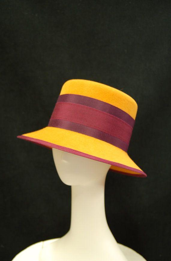 Hat Women s Hand Blocked Antique Gold Fur Felt Hat by hatWRKS ... 2a634ab96a0
