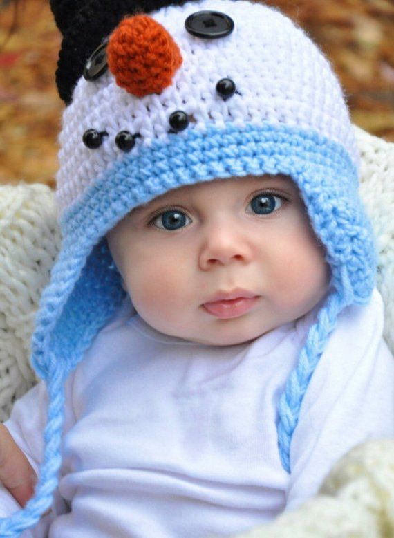Snowman hat - baby snowman hat - baby Christmas hat - snowman - Christmas  hat - child snowman hat - b12b18c1511
