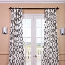 Ogee Printed Cotton Rod Pocket Curtain Panel