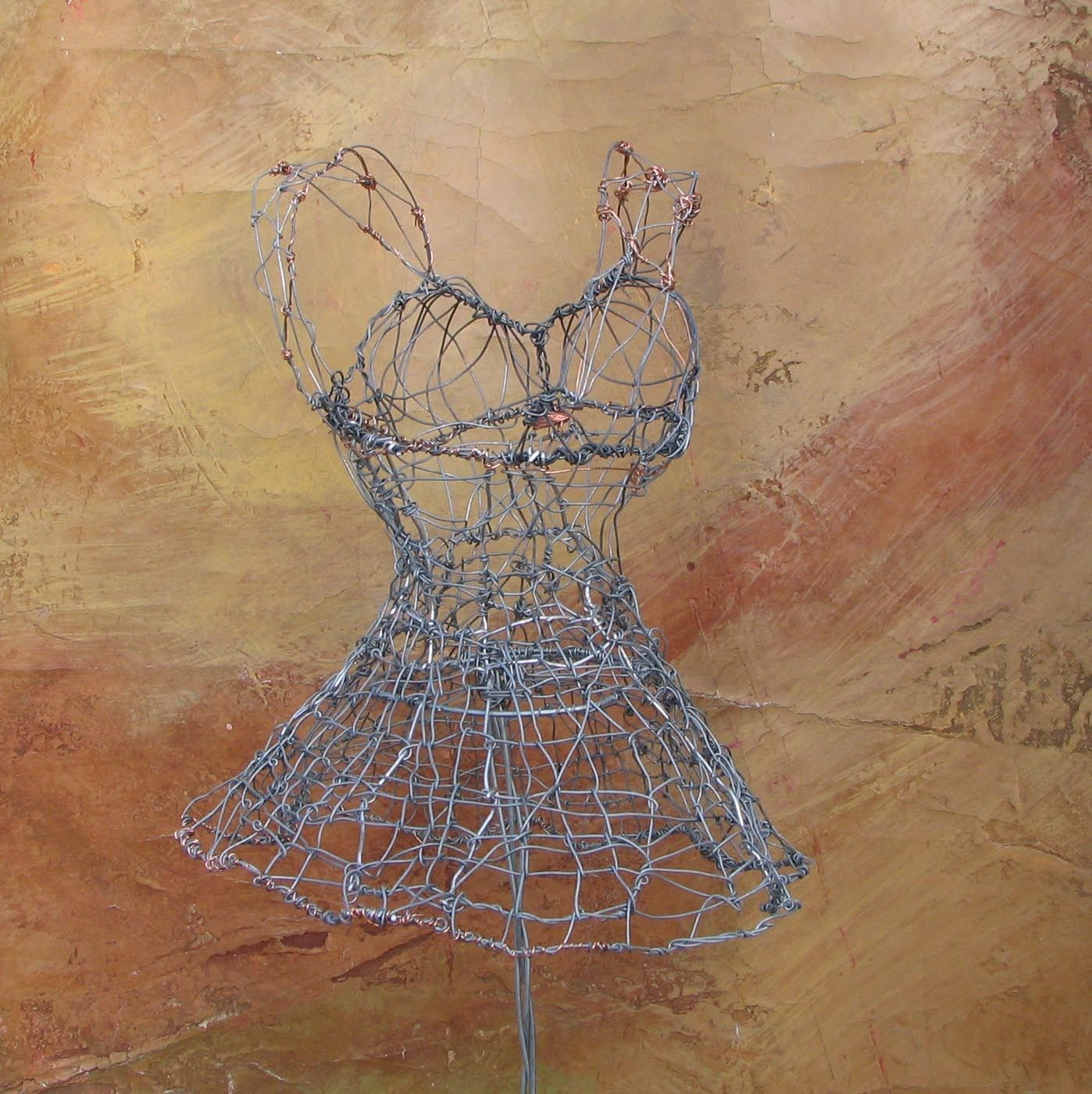 Wire Dress Sculpture By Maryhanks On Etsy