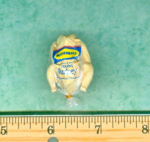 ONE INCH SCALE Dollhouse Miniature size Frozen Turkey