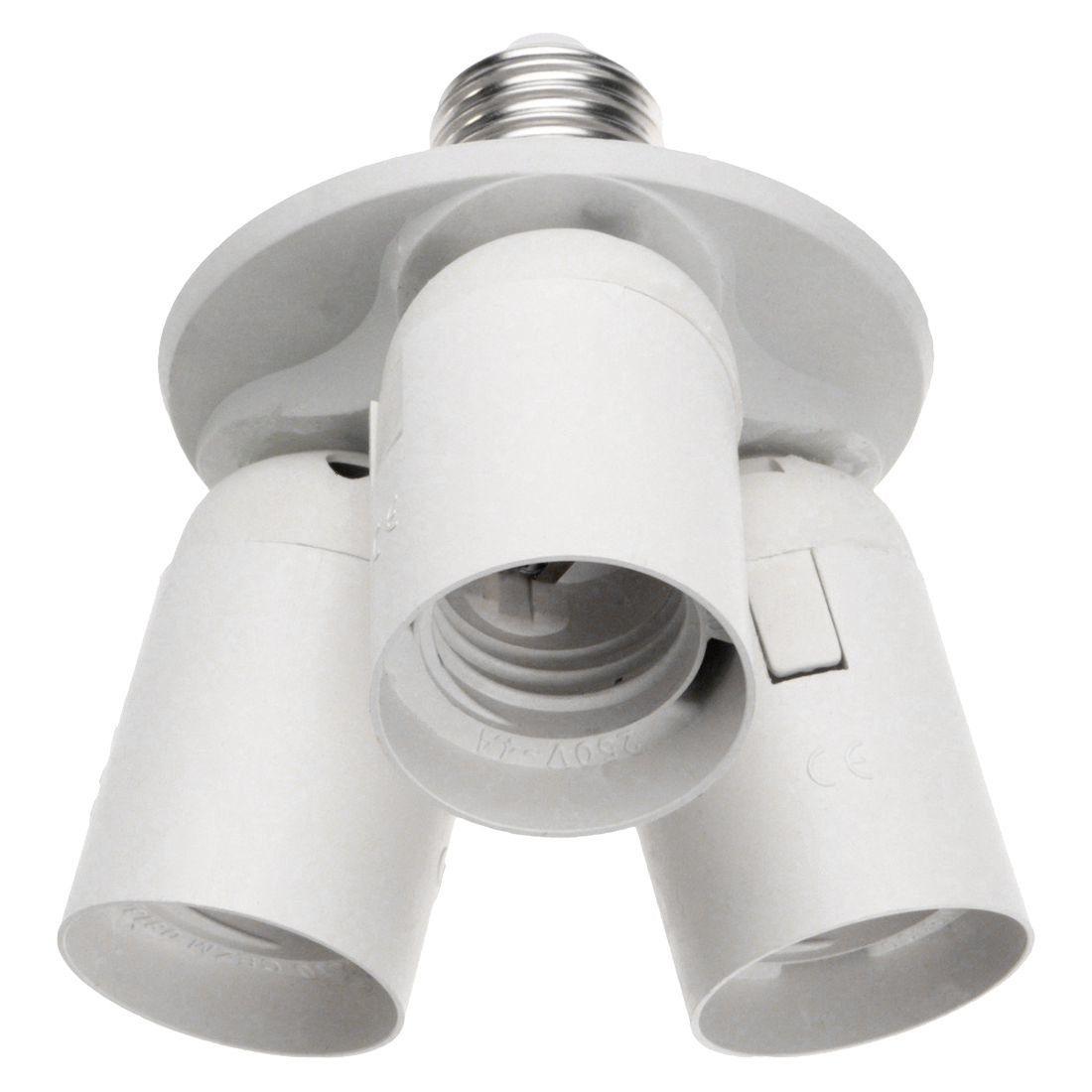 Universe Of Goods Buy 3 To 1 Light Socket E27 Splitter Lamp Base Adapter For Standard Led And Cfl Bulbs Fo Light Bulb Adapter Bulb Adapter Light Bulb Bases