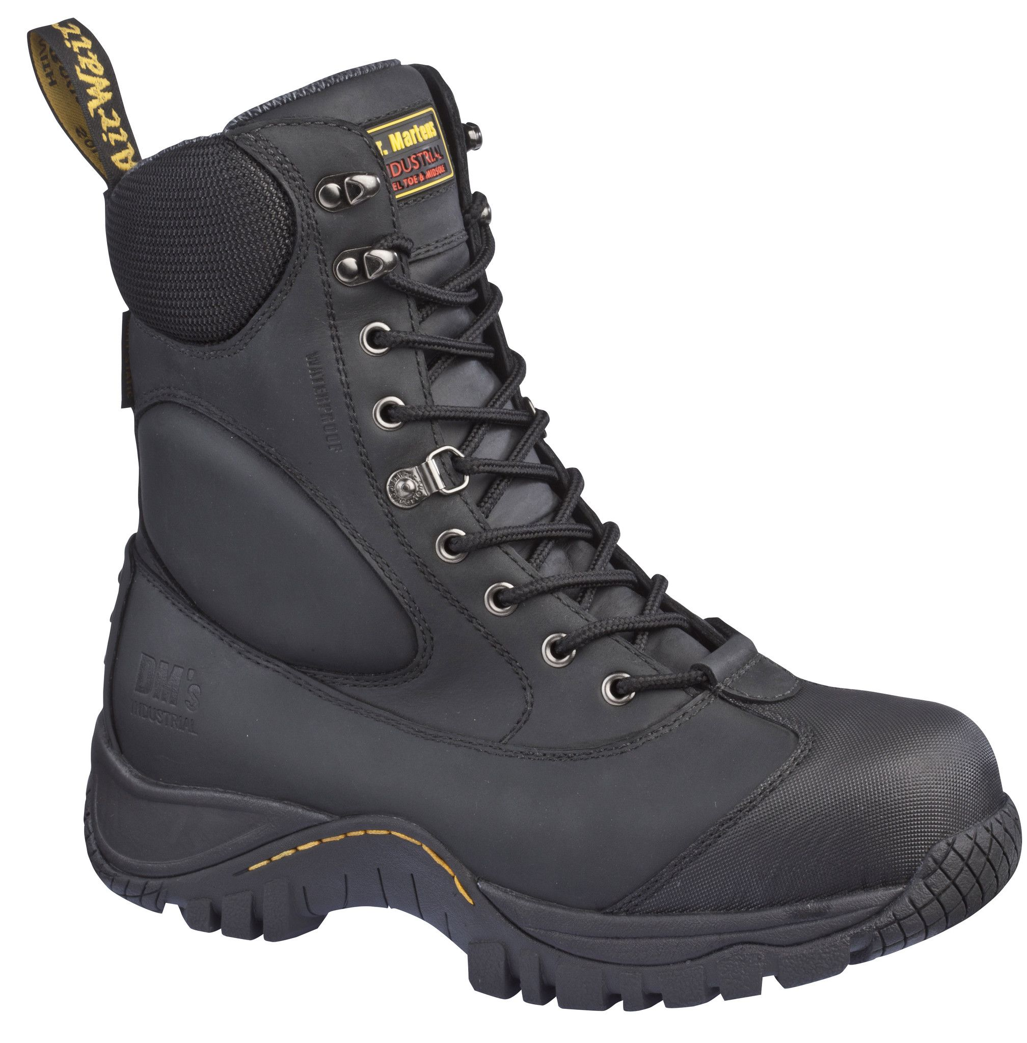 Dr Martens Tamarack Waterproof Tactical Steel Toe Boot Black