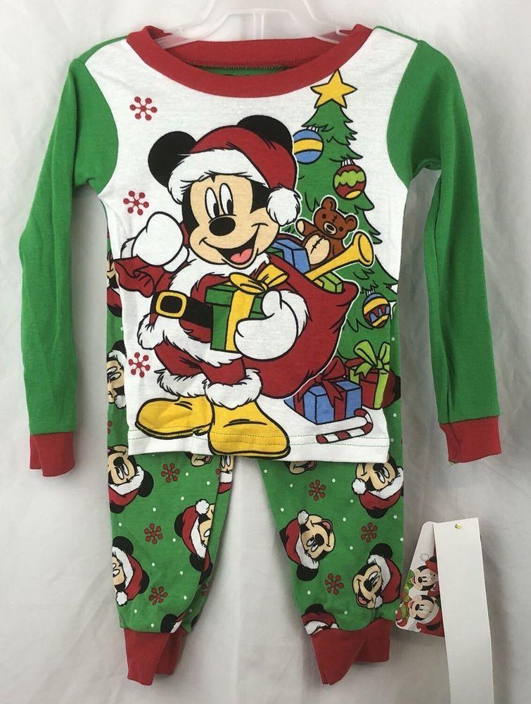 Boys Mickey Mouse Christmas 2 pc pajama set NEW!!