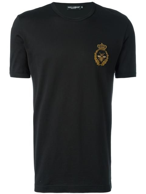 DOLCE & GABBANA 크라운 앤 벌 티셔츠. #dolcegabbana #cloth #티셔츠