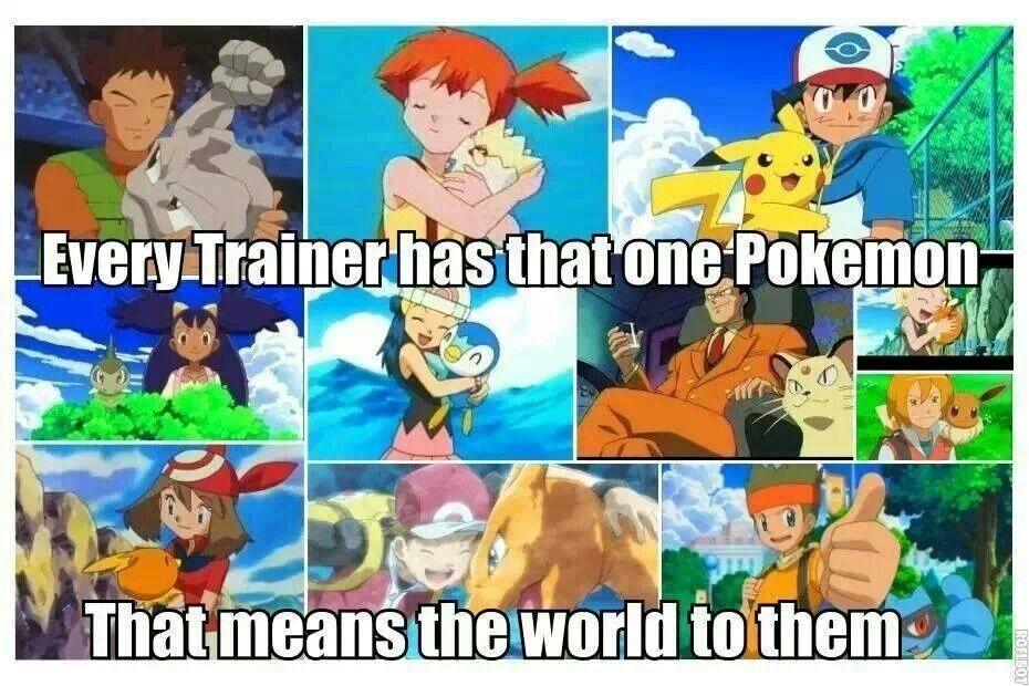 The one Pokémon that's always with you, even though to change out all the other ones- CHIMCHAR AND MUDKIP!!!!