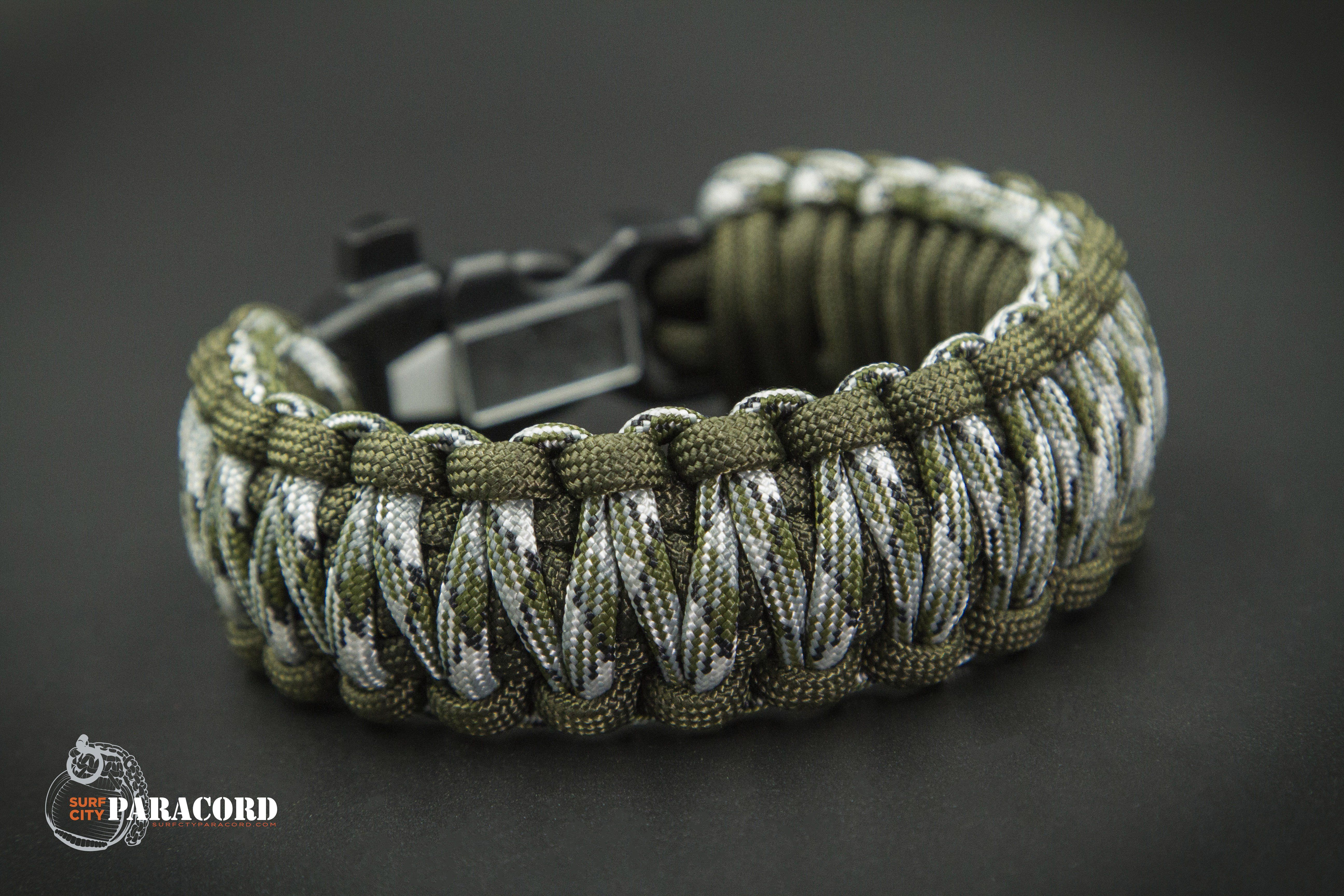 550 Paracord Survival Bracelet King Cobra Black//Purple Camping Tactical Military