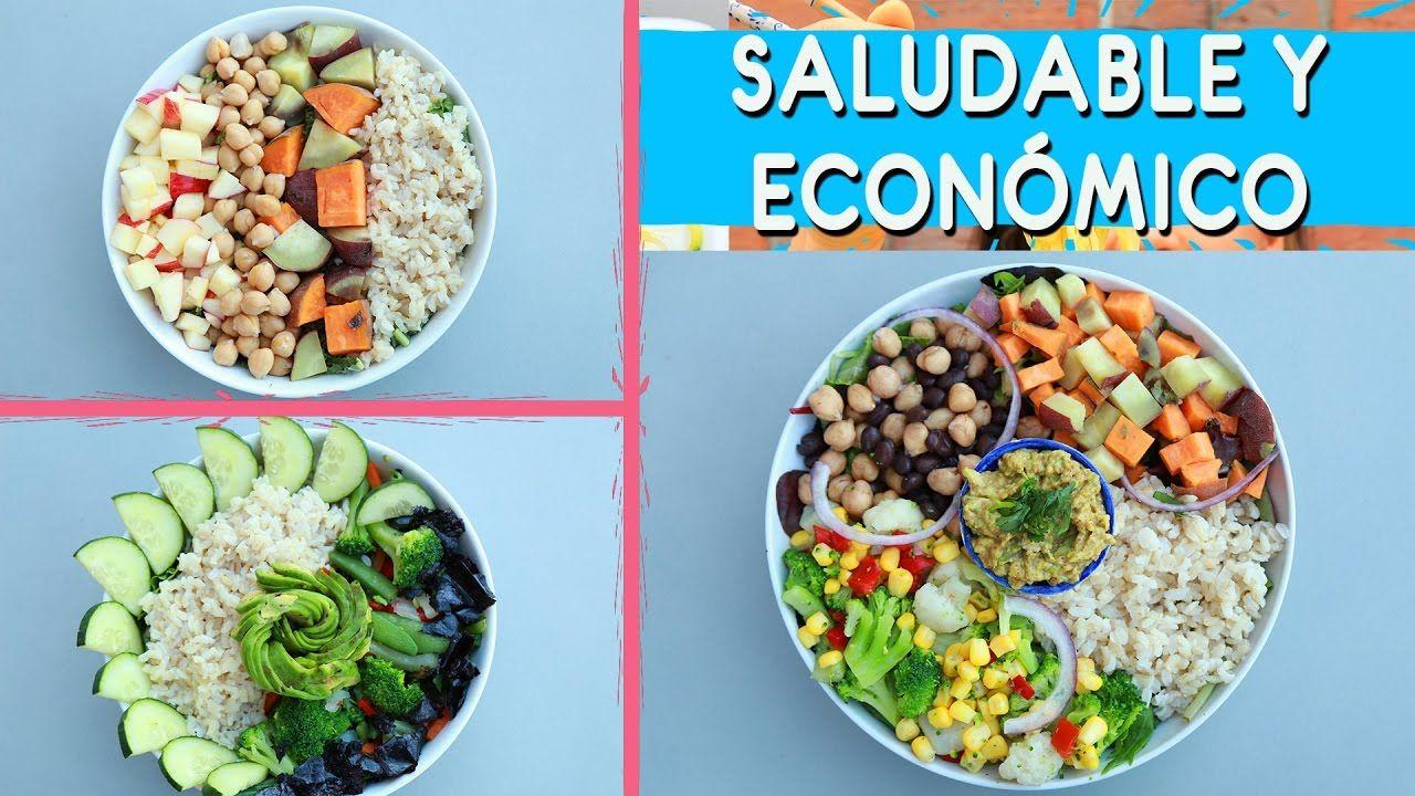 3 Almuerzos Economicos Saludables Y Veganos Menos De 5 Usd Cenas Economicas Recetas Almuerzo Alimentacion Saludable