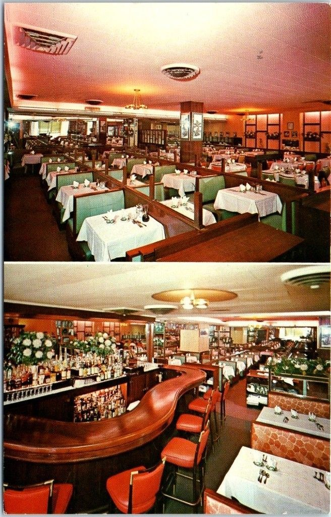 New York City Postcard China Bowl Chinese Restaurant 44th St Interior View 1950s City Postcard Chinese Restaurant York Restaurants