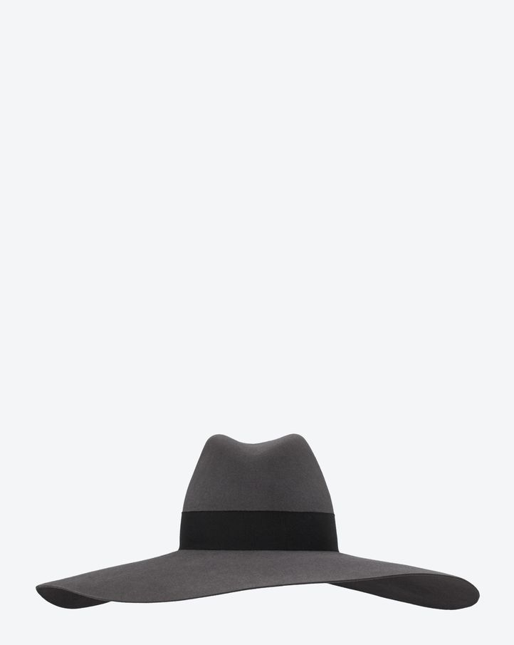 9674d5e20e1 Saint Laurent Classic Fedora In Grey Rabbit Fur Felt - ysl.com ...