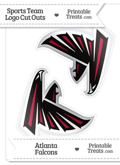 Medium Atlanta Falcons Logo Cut Outs From Printabletreats