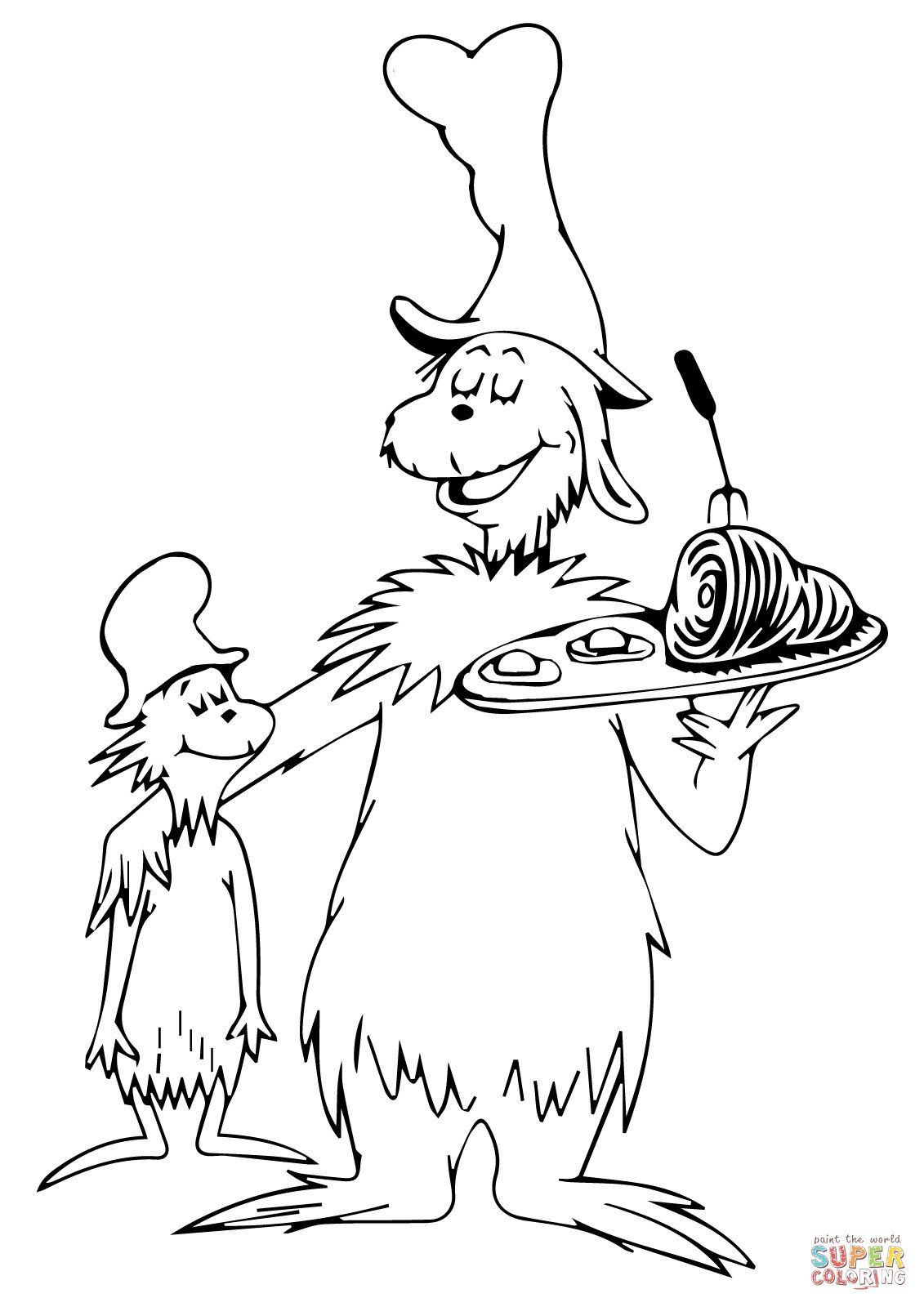 green eggs and ham coloring page # 1