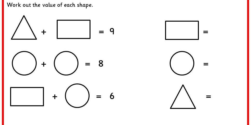 Algebra worksheets ks2 year 6
