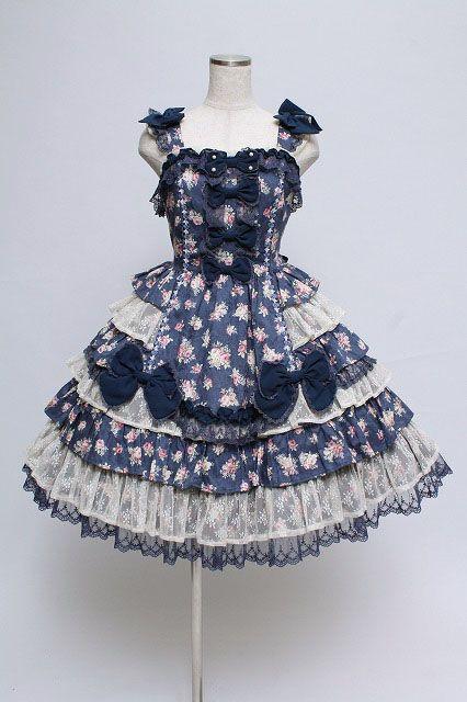 Marvelous Angelic Pretty / Fancy Rose Jumper Skirt   Closet Child Online Shop