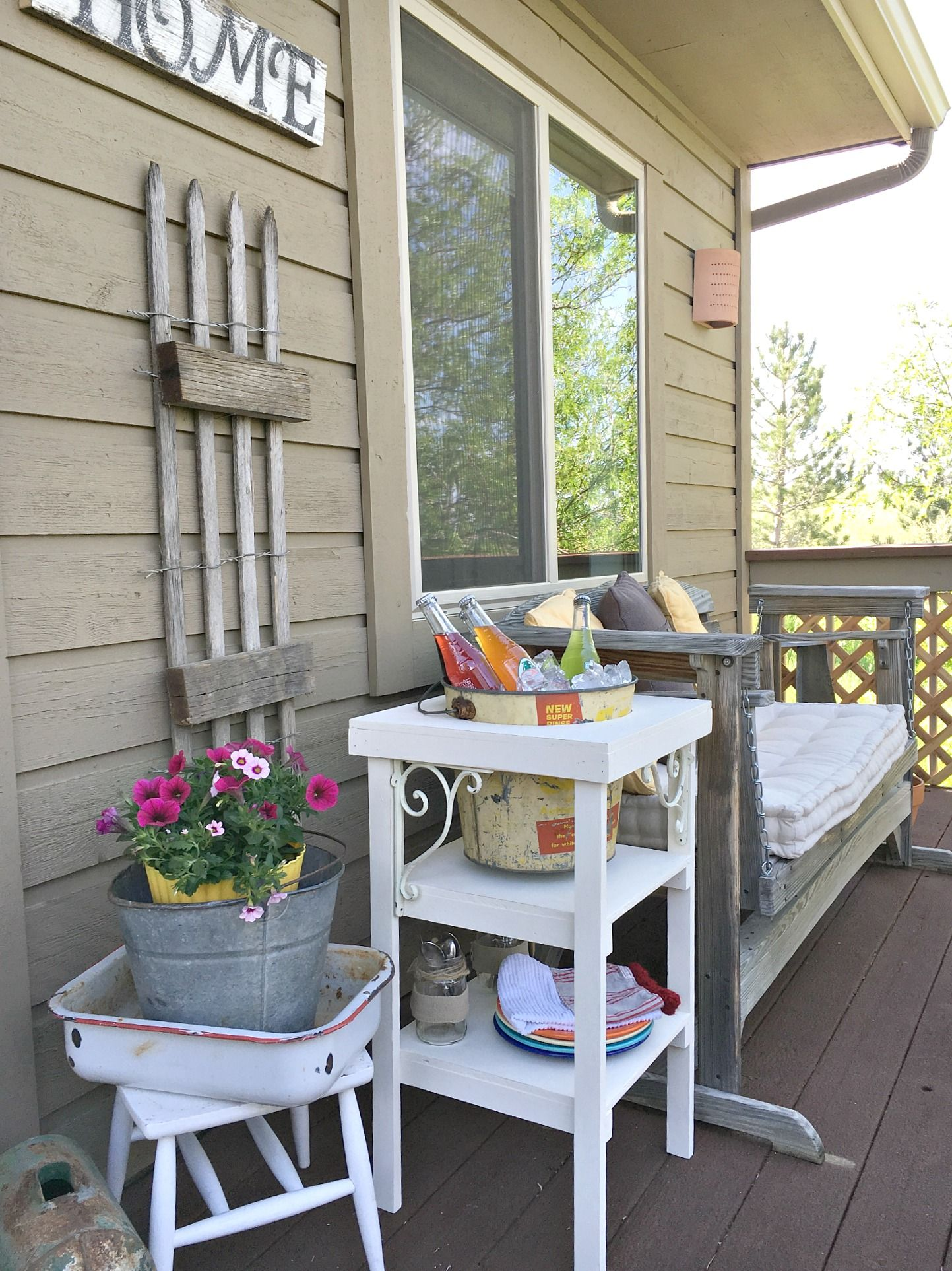 DIY Beverage Station & Summer Patio Decor Patio