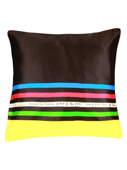YSL Oversized Scarf Pillow by Matstone Vintage Pillowtalk at Gilt