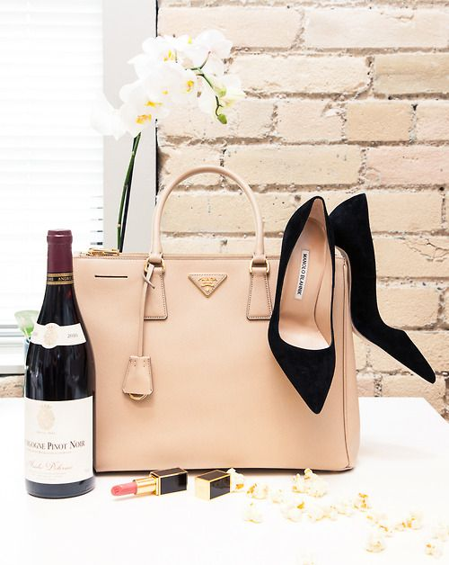 22470cb2c7e5 A good pinot wine, prada bag, and manolo blahnik shoes...I'm ready for date  night